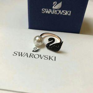 SWAROVSKI 施华洛世奇黑天鹅开口戒指