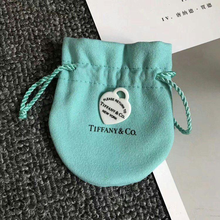 Tiffany & Co. 蒂芙尼天然石爱心吊坠