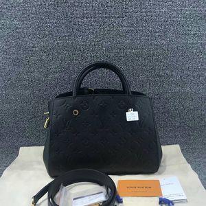 Louis Vuitton 路易·威登蒙田全皮压花手提包