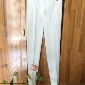 MaxMara 麦丝玛拉白色紧身长裤