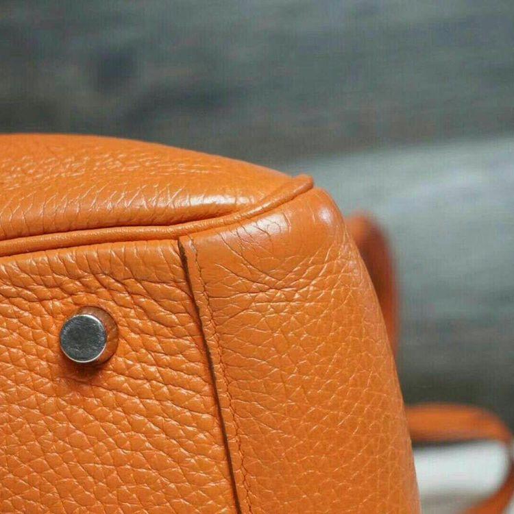 Hermès 爱马仕lindy30经典爱马仕橘色手提包