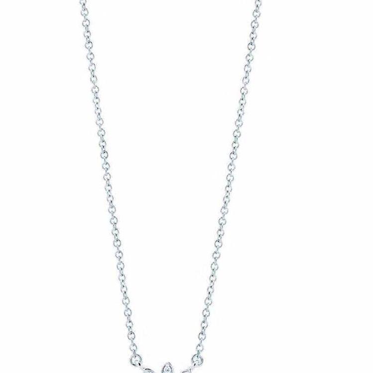Tiffany & Co. 蒂芙尼pt950铂金满钻雏菊项链