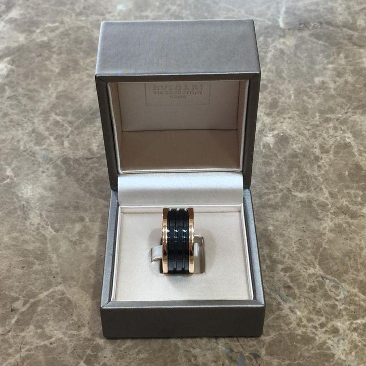 BVLGARI 宝格丽黑陶瓷戒指