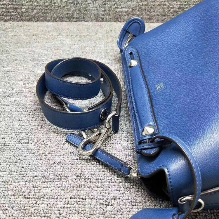 FENDI  墨蓝色全皮肩背手提包