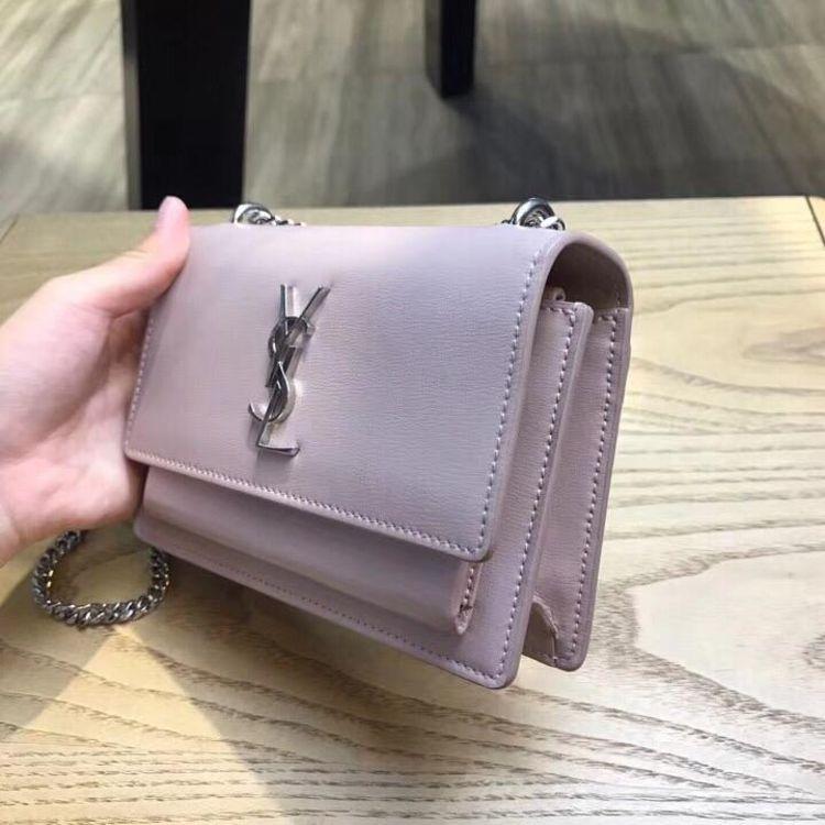 Yves Saint Laurent 伊夫·圣罗兰藕粉色单肩链条包