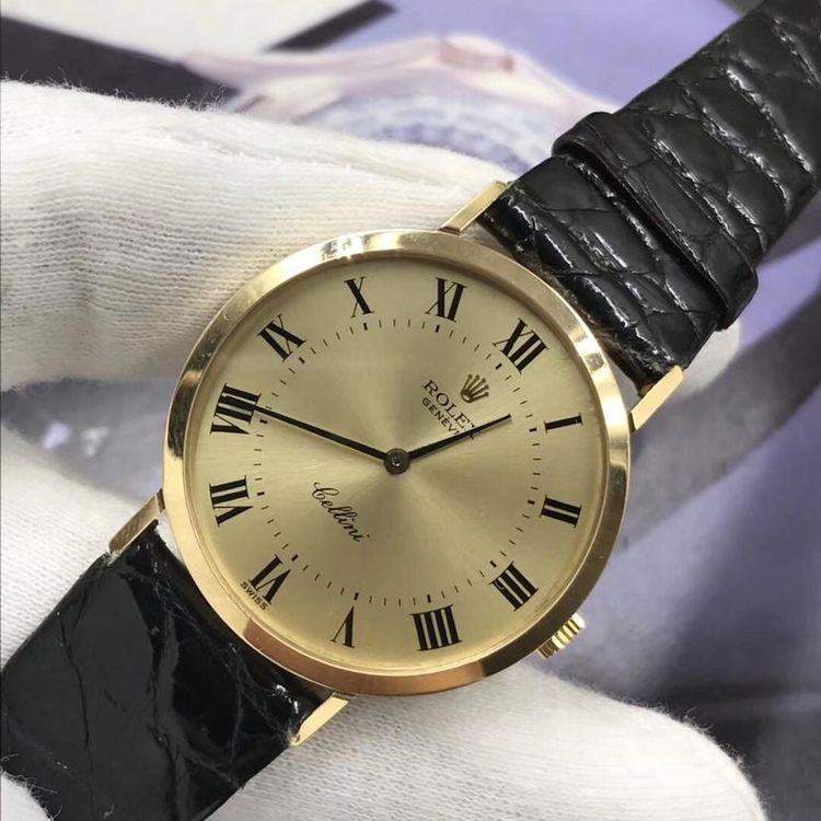 Rolex 劳力士切利尼系列18k纯金女士机械表
