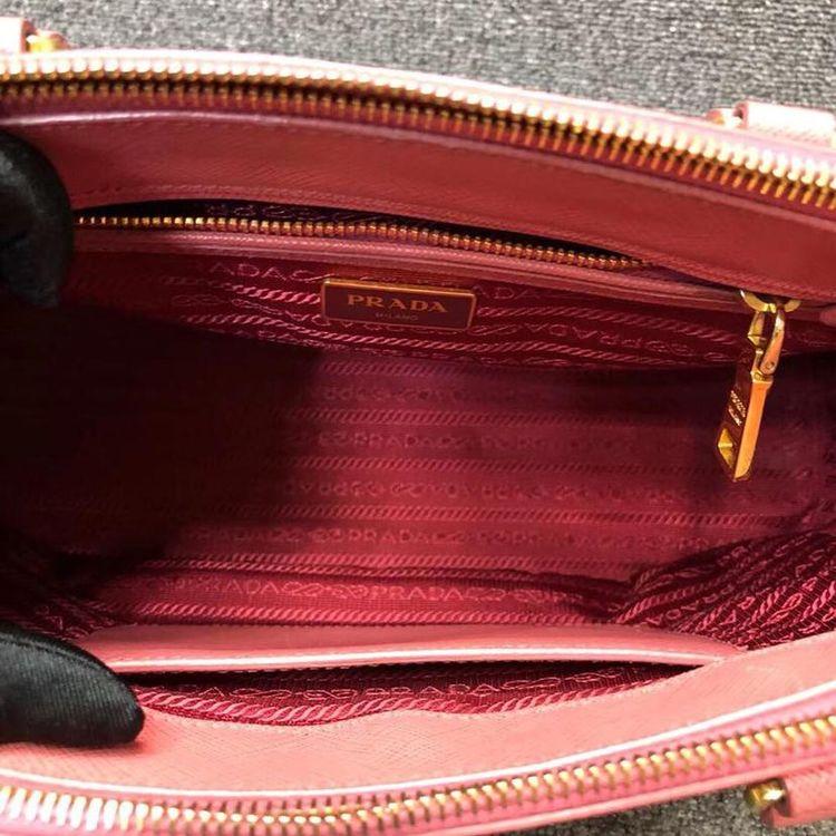 PRADA 普拉达粉色手提包