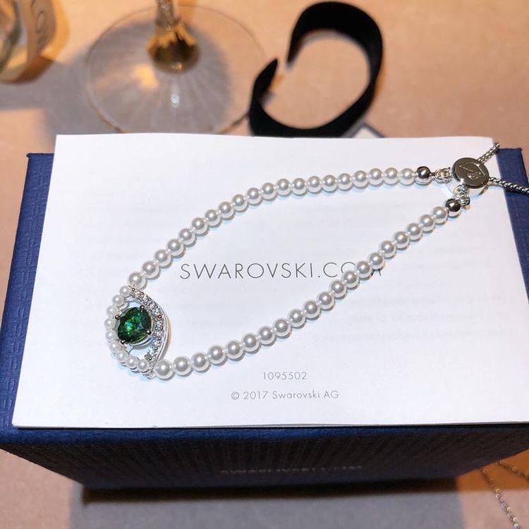 SWAROVSKI 施华洛世奇绿色珍珠恶魔之眼手链