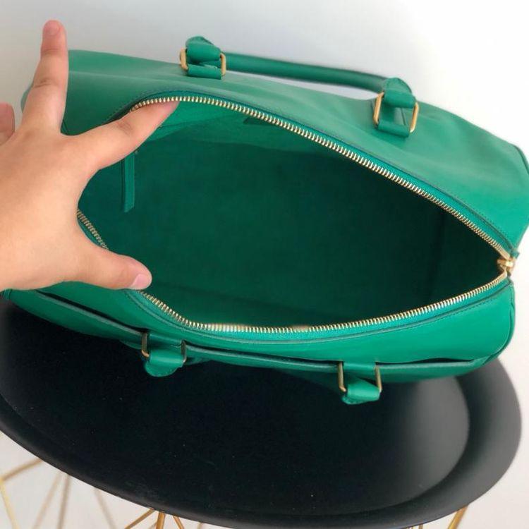 Yves Saint Laurent 伊夫·圣罗兰竹子绿中号枕头手提包