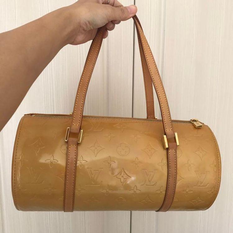 Louis Vuitton 路易·威登老花漆皮圆桶包