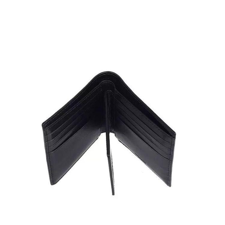 COACH 蔻驰黑色老花logo男款短钱包