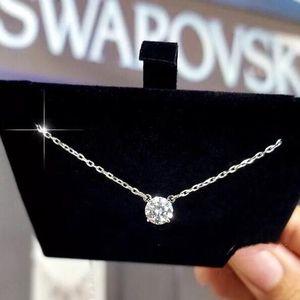 SWAROVSKI 施华洛世奇银色单水晶项链