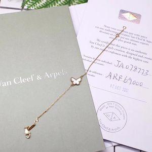 Van Cleef Arpels 梵克雅宝18k黄金白贝母蝴蝶手链