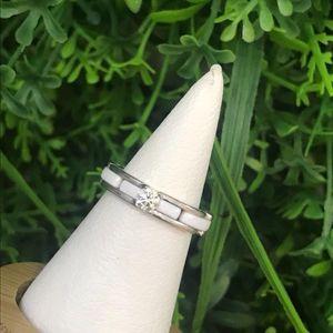 CHANEL 香奈儿K金陶瓷镶钻戒指