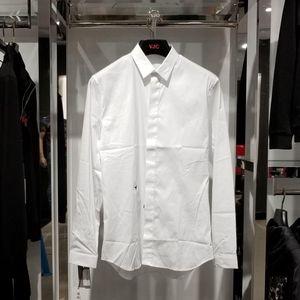 Dior 迪奥经典款黑蜜蜂刺绣男士白色衬衫