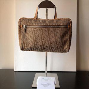 Dior 迪奥咖色老花手提包