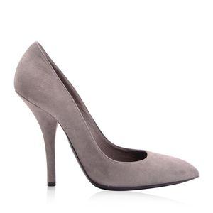 Bottega Veneta 葆蝶家女士灰色麂皮高跟鞋