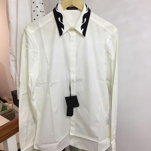 Versace 范思哲男士纯色衬衫