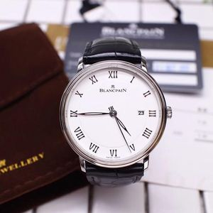 Blancpain 宝珀经典系列6651精钢白盘日历男士机械表