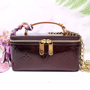 Louis Vuitton 路易·威登漆皮酒红首饰盒子化妆包
