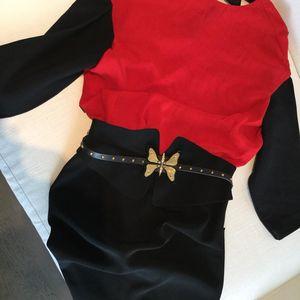 Marni 玛尼双重面料插肩拼接后V系带长袖