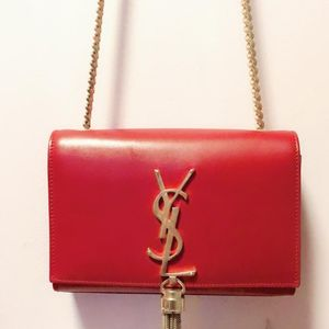 Yves Saint Laurent 伊夫·圣罗兰红色肩背单肩包