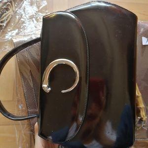 Cartier 卡地亚豹子头手提包