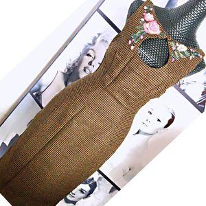 Moschino 莫斯奇诺重工刺绣旗袍款连衣裙
