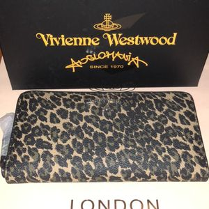 Vivienne Westwood 维维安·韦斯特伍德豹纹长款钱包