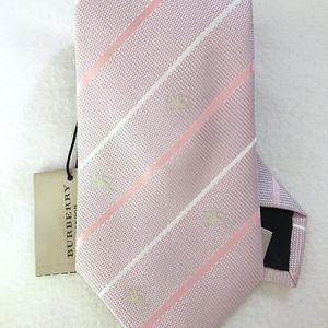 Burberry 博柏利刺绣马标真丝领带