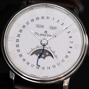 Blancpain 宝珀6654A 钢款自动机械表
