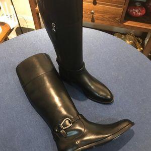 Ralph Lauren 拉尔夫·劳伦黑色靴子