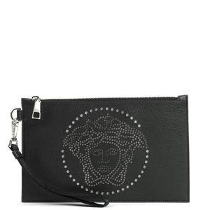 Versace 范思哲男士美杜莎真皮手拿包