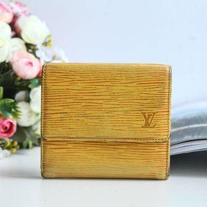 Louis Vuitton 路易·威登QB07012黄色牛皮水纹钱包