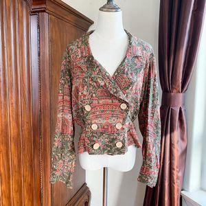 Hermès 爱马仕复古印花衬衣外套