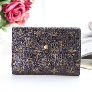 Louis Vuitton 路易·威登QB06006老花中长款金豆豆钱包