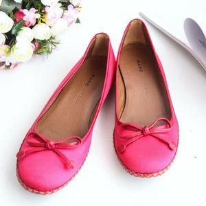 Marc Jacobs马克.雅可布XZ06009深粉丝绸面芭蕾平底鞋