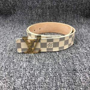 Louis Vuitton 路易·威登白棋盘格腰带