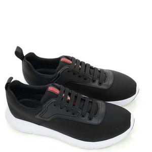 PRADA 普拉达男士尼龙拼皮鞋底防滑运动鞋