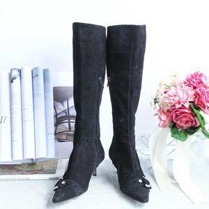 GIVENCHY 纪梵希XZ08154黑色长筒靴