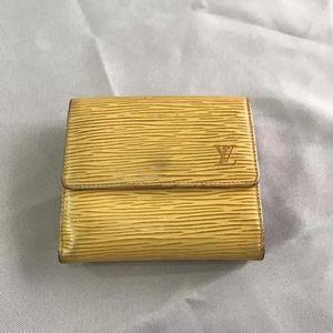 Louis Vuitton 路易·威登黄紫EPI三折钱包