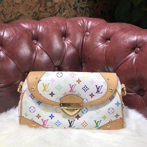 Louis Vuitton 路易·威登白三彩女士单肩包