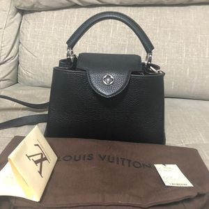 Louis Vuitton 路易·威登黑银手提包