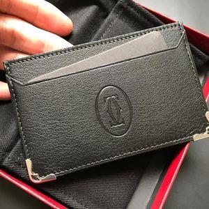 Cartier 卡地亚 全新正品法国卡地亚Cartier男士真皮卡包