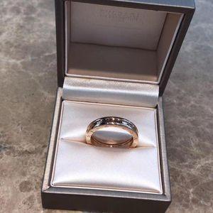 BVLGARI 宝格丽玫瑰金单环戒指