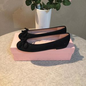 Pretty Ballerinas 芭莉瑞娜蝴蝶结闪亮黑色平跟鞋