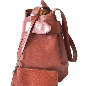 Louis Vuitton 路易·威登焦糖色水波纹子母水桶包