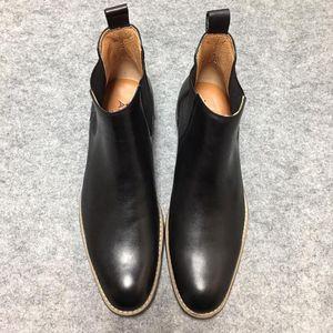 Aldo 切尔西靴时尚简约大气男鞋高帮鞋真皮靴