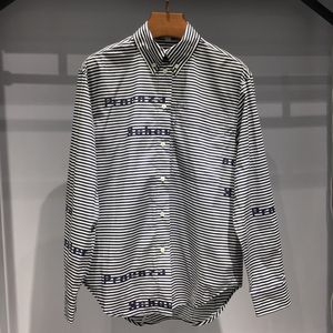 Proenza Schouler 普罗恩萨·施罗条纹字母棉质长袖衬衫