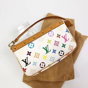 Louis Vuitton 路易·威登白三彩手提包